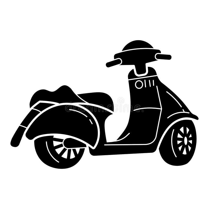 Modern sparkcykelsymbol, enkel stil royaltyfri illustrationer