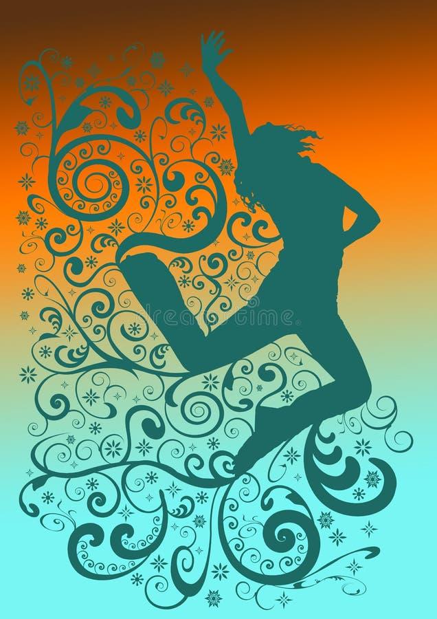 modern spiral för blå dans stock illustrationer