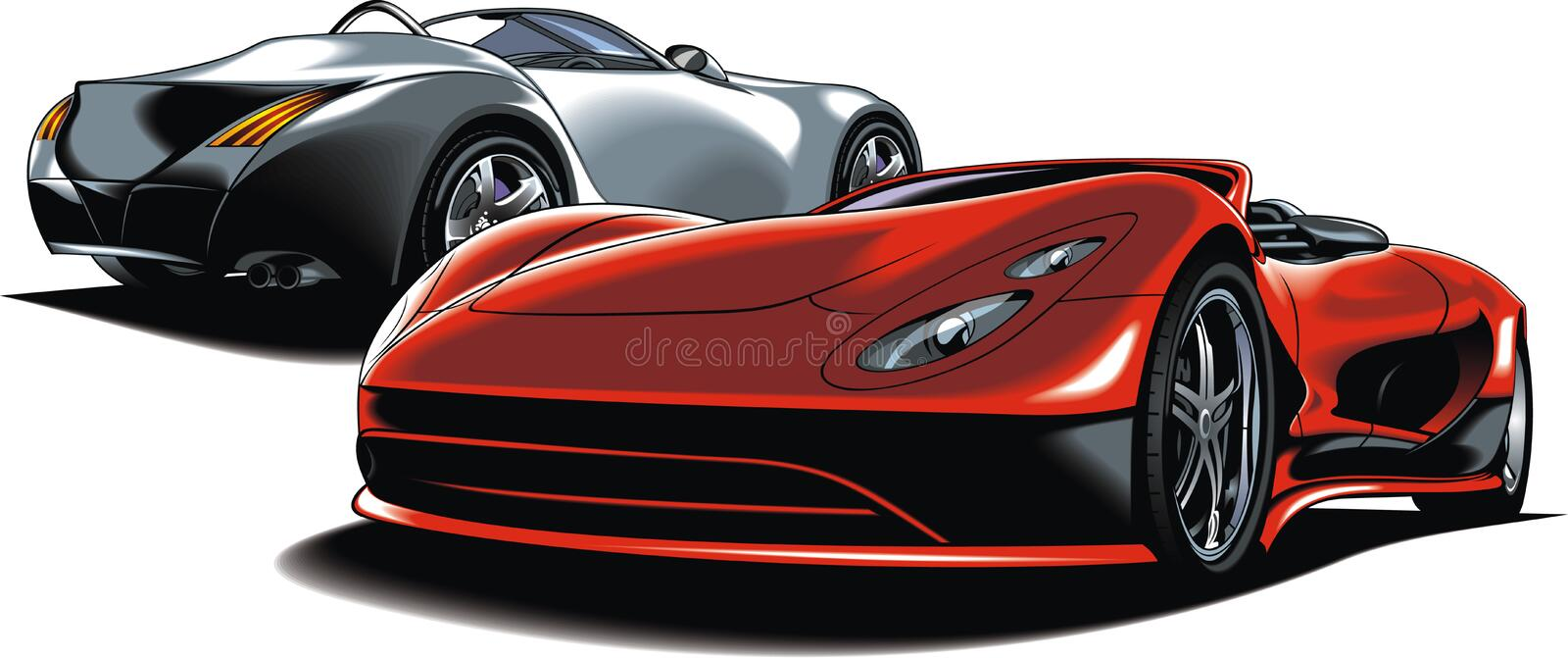 Modern sport cars (my original design) stock illustration