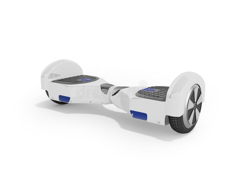 Modern sport gyroboard white front 3d render on white background. Modern sport gyroboard white front 3d render on white royalty free illustration