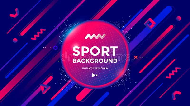 Modern Sport poster design with dynamic gradients royalty free illustration
