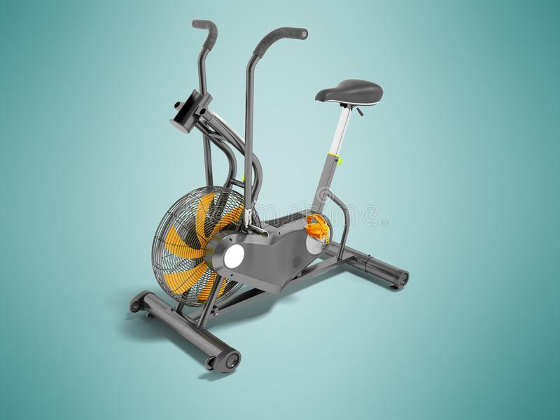 Modern sportmotionscykelgrå färg med apelsinen betonar med ställningen royaltyfri illustrationer