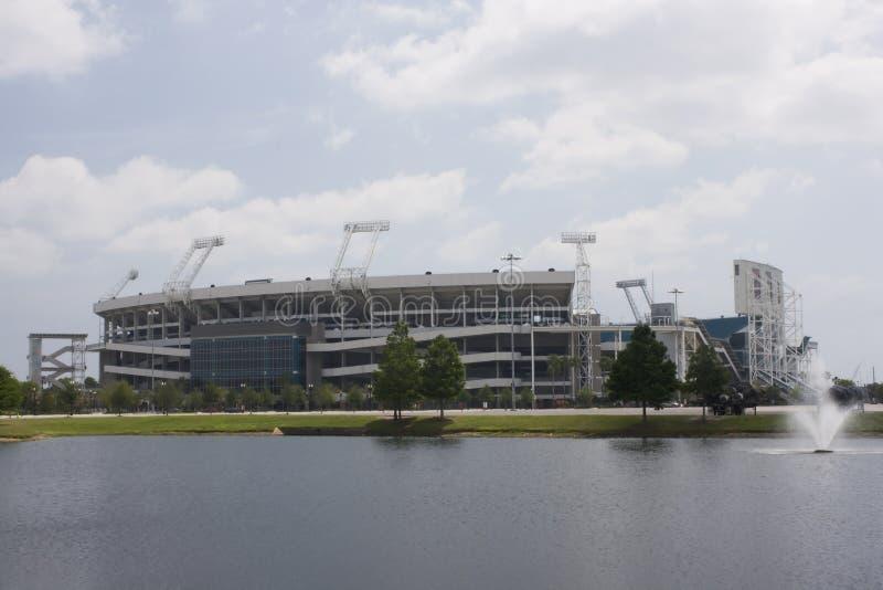 Modern sports stadium stock image
