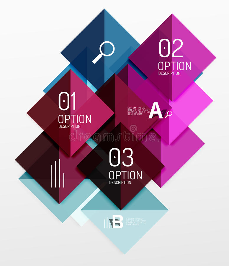 Modern square composition, abstract banner. Vector template background for workflow layout, diagram, number options or web design vector illustration