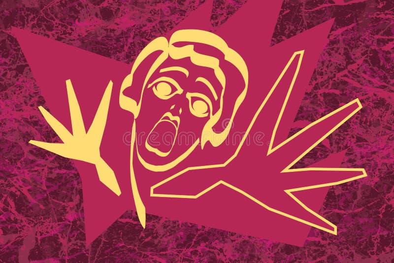 modern stöt kvinna vektor illustrationer