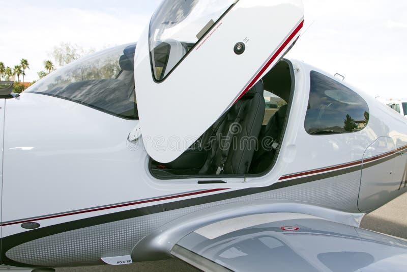 modern stötta turbo för flygplan royaltyfria bilder
