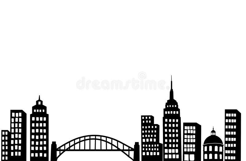 modern stad vektor illustrationer