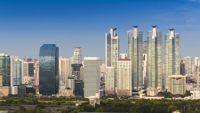 Modern stad av Bangkok royaltyfri bild