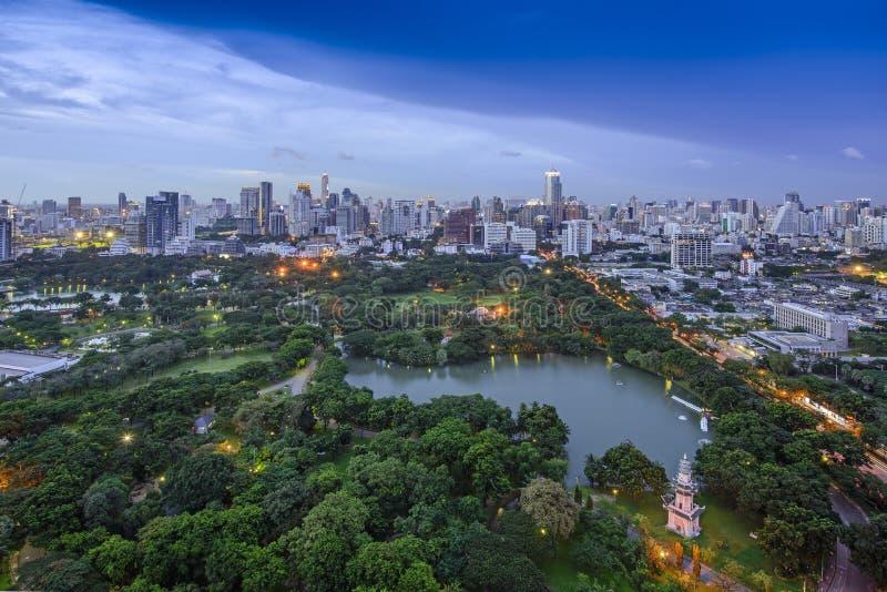 Modern stad av Bangkok arkivbild