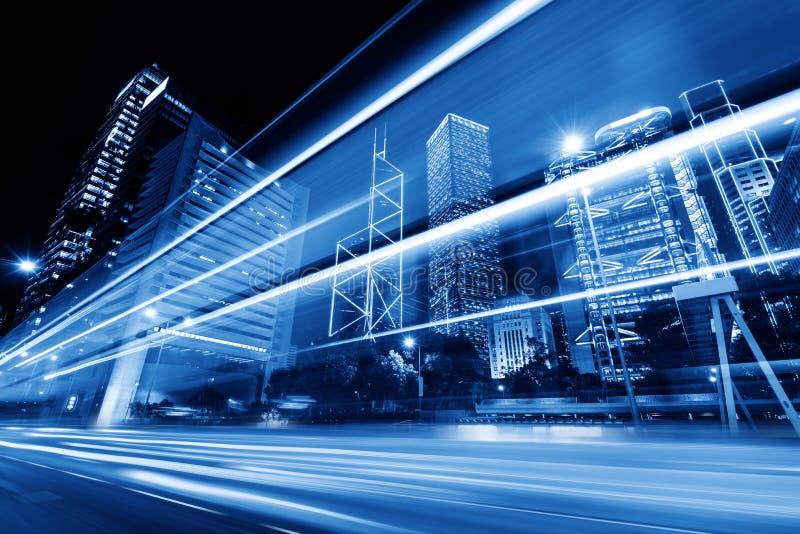 Modern stad på natten royaltyfria foton