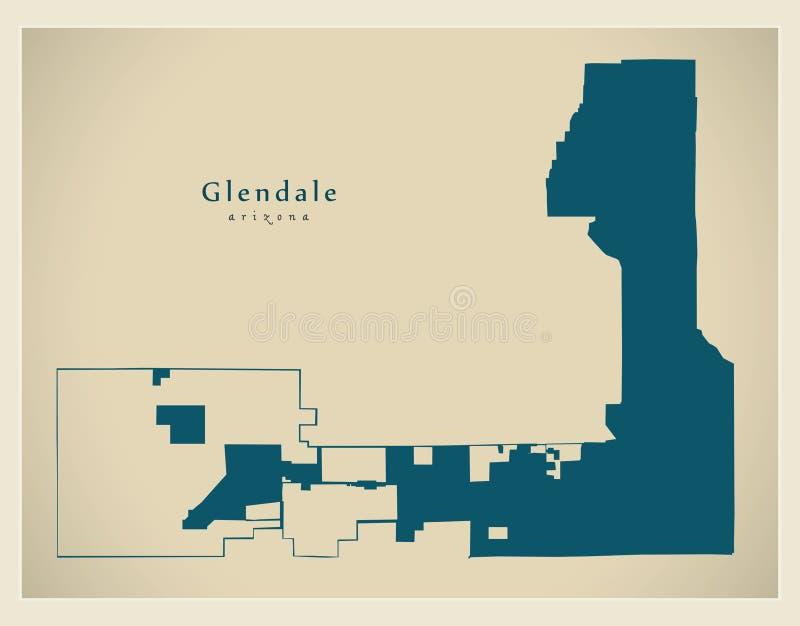 Modern stadsöversikt - Glendale Arizona stad av USA stock illustrationer