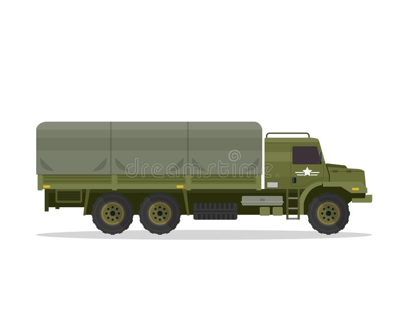 Modern stads- militärfordonillustration royaltyfri illustrationer