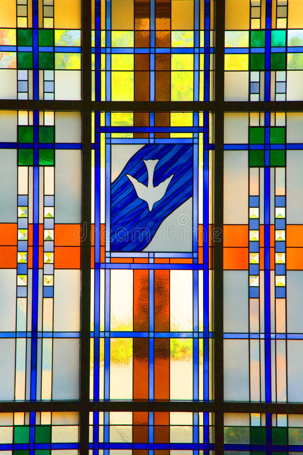 Modern Stained Glass. Shot of a modern stained glass creation stock image