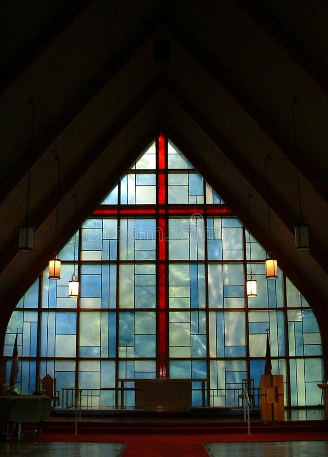 Modern stained glass window royalty free stock photography