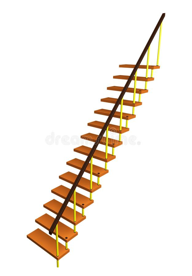 Modern staircase isolated royalty free stock photography