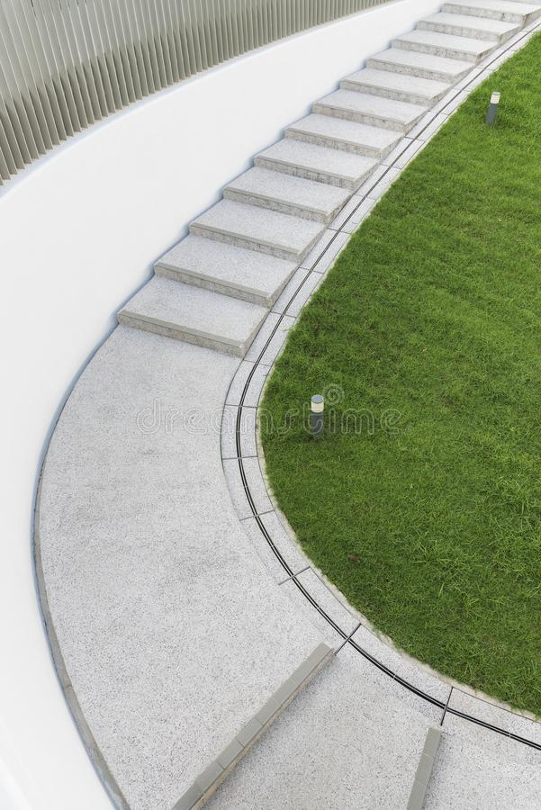 Modern stairway. Building abstract background stock image
