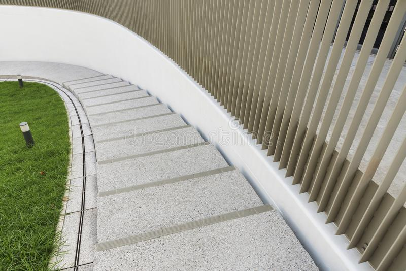 Modern stairway. Building abstract background royalty free stock photography
