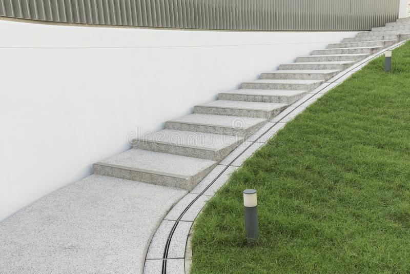 Modern stairway. Building abstract background royalty free stock images