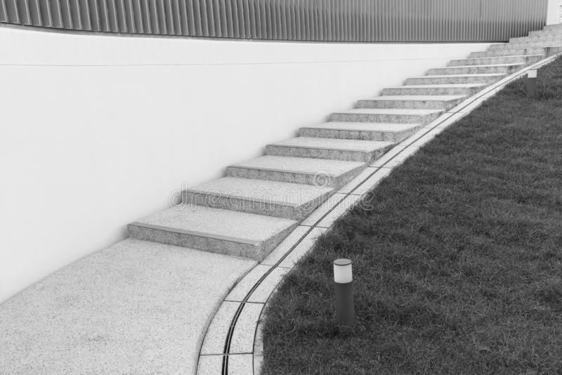 Modern stairway. Building abstract background royalty free stock photo