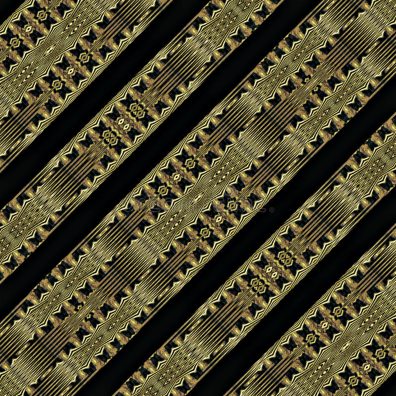 Modern Stam Geometrisch Patroon royalty-vrije illustratie