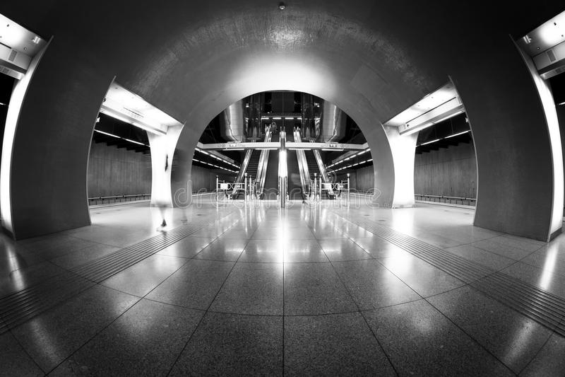 Modern station interior stock images
