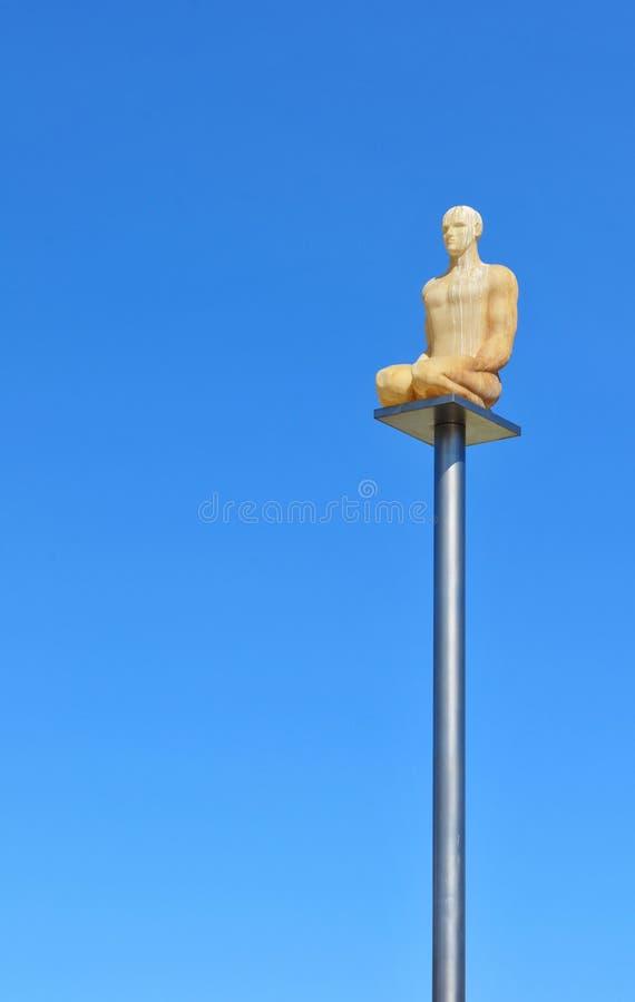 Modern statue royalty free stock image