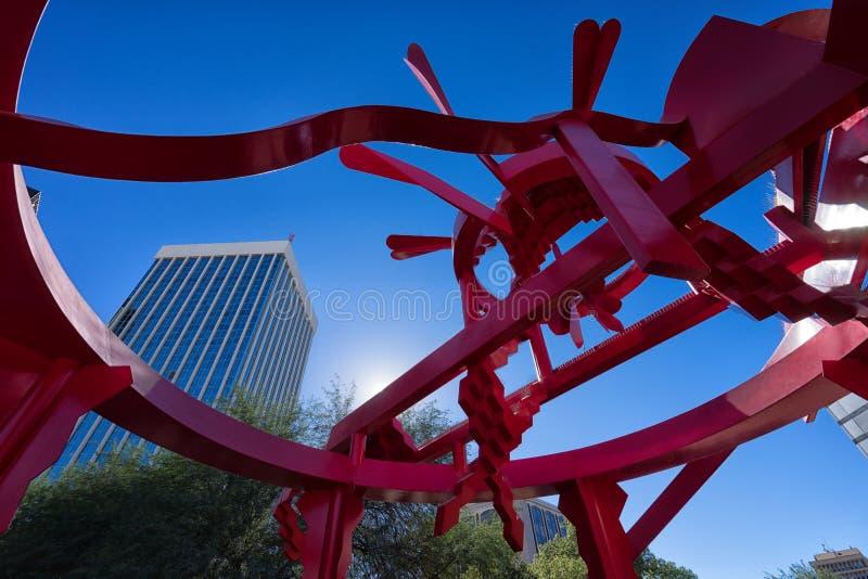 Modern statue in Tucson Arizona stock photo