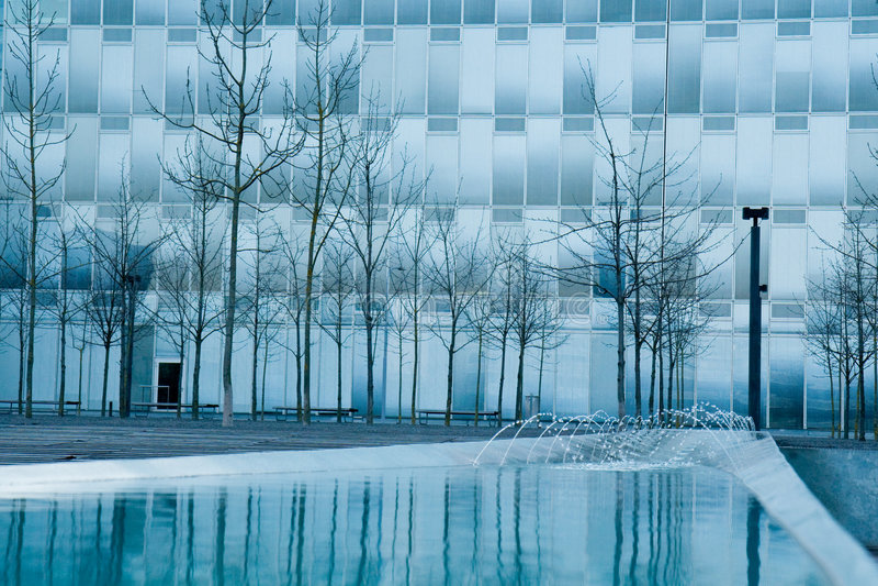 Modern stedelijk district. royalty-vrije stock afbeelding