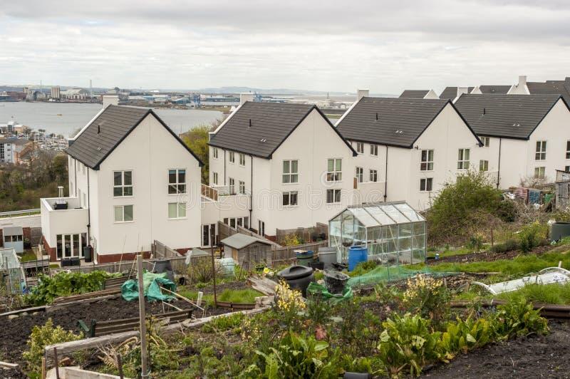 Modern stedelijk landschap, het UK royalty-vrije stock afbeeldingen