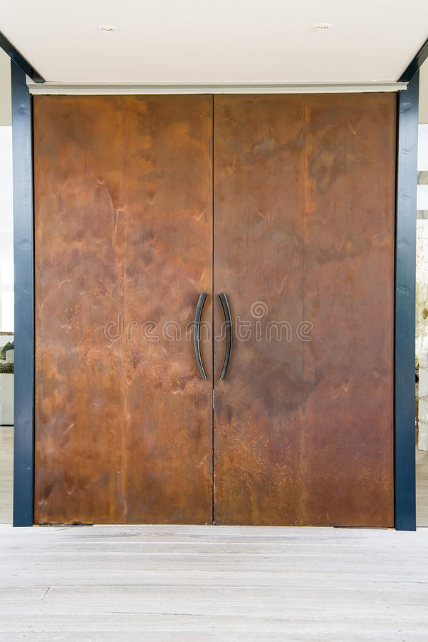 Modern steel door royalty free stock images