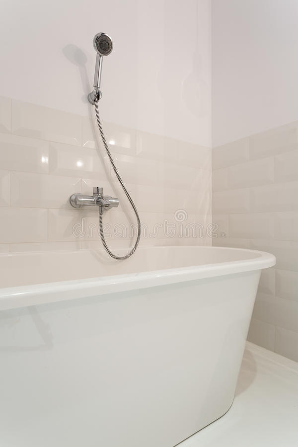 Modern and sterile bathtub royalty free stock image