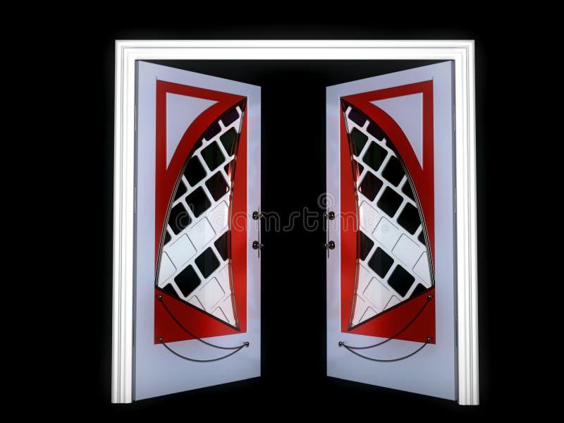 modern stil för dörr stock illustrationer