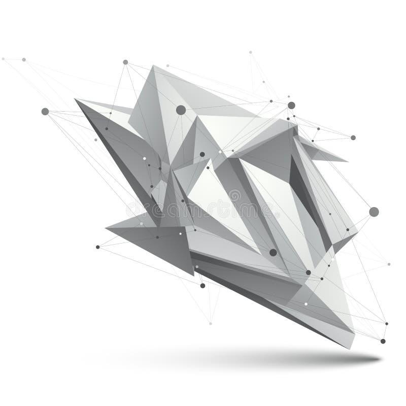 Modern stil för digital teknologi, abstrakt ovanlig bakgrund, ve royaltyfri illustrationer