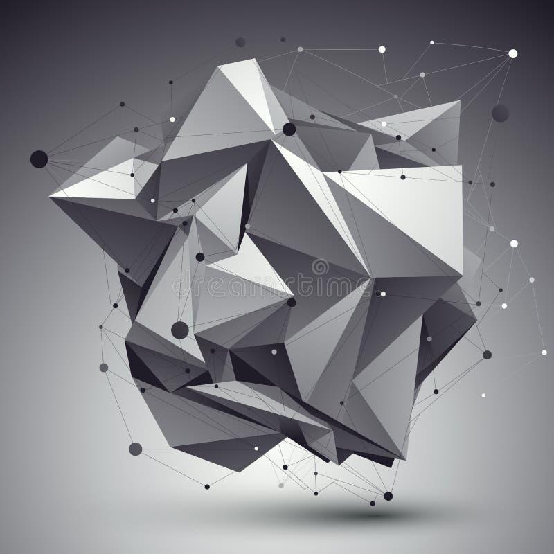 Modern stil för digital teknologi, abstrakt ovanlig cybernetic bac royaltyfri illustrationer