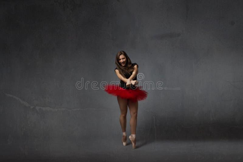 Modern stil för en klassisk ballerina arkivbild