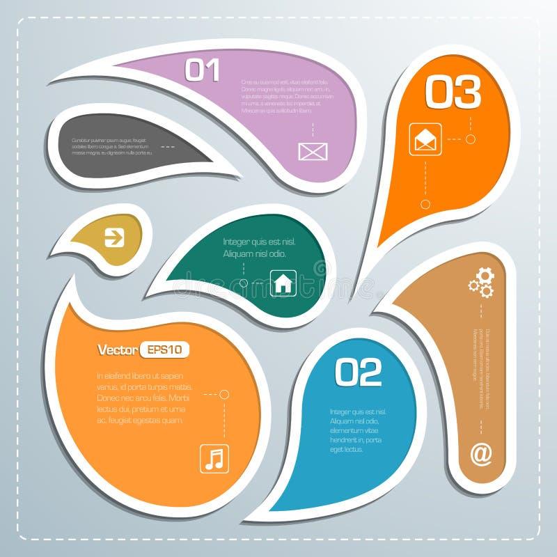Modern stil för mall för affärsbubblaanförande stock illustrationer