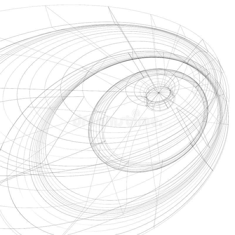 modern stiliserad abstrakt bakgrund för ingrepp 3D, monokrom geometri royaltyfri illustrationer