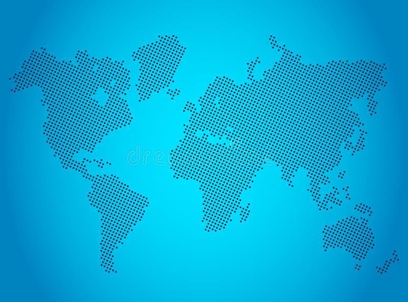 Modern stiliserad världskarta Plan vektorillustration royaltyfri illustrationer