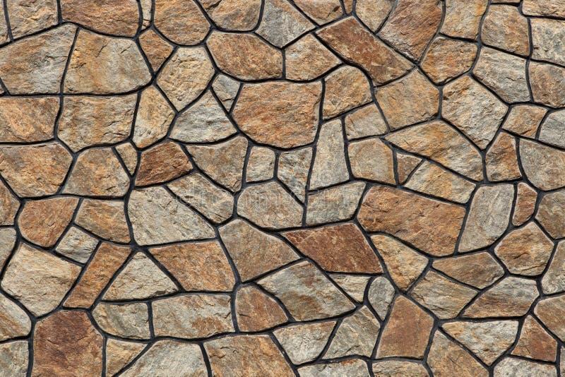 Modern stone masonry. Background texture royalty free stock photography