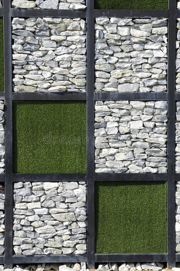 Modern stone wall.a different format. stock photography