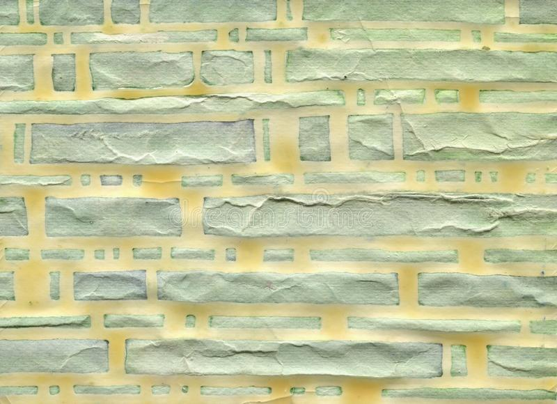 Modern stor gul bakgrund för tegelstenvägg Wood effekt 100% handgjorda vattenfärgpapper vektor illustrationer