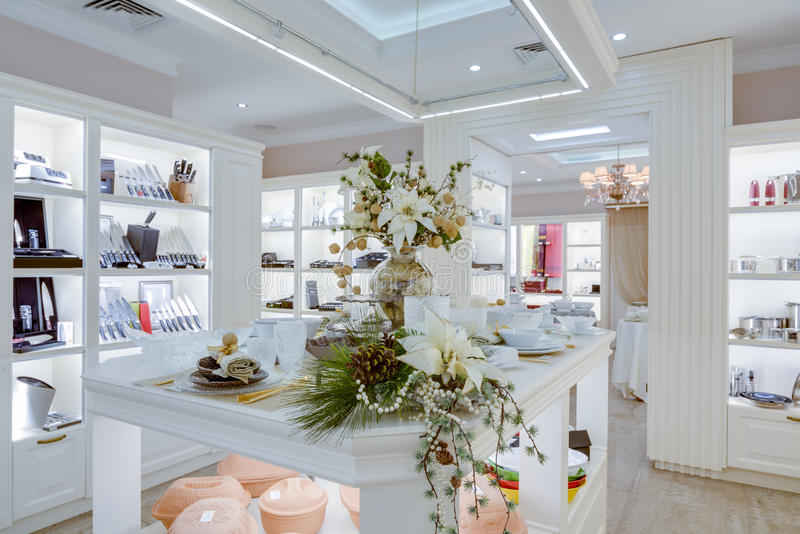 Modern store interior stock images