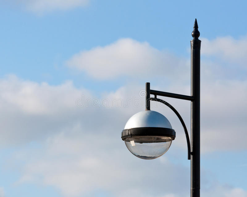 Modern street lamp. royalty free stock photo
