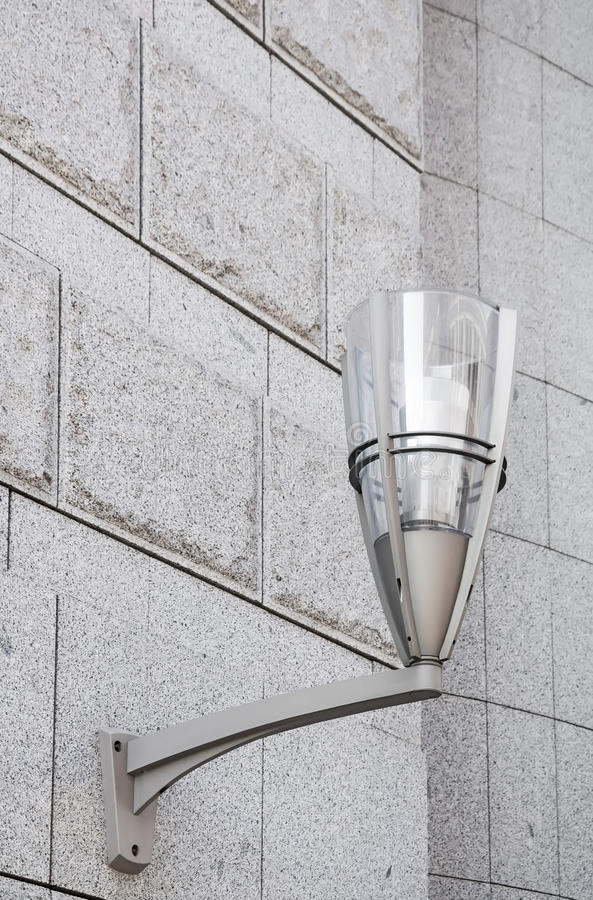 Free Modern Street Lamp On The Wall. Stock Images - 41039894