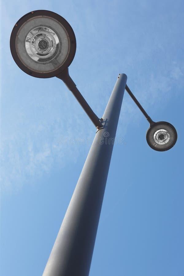 Free Modern Street Lamp Under A Blue Sky Royalty Free Stock Photos - 42128008