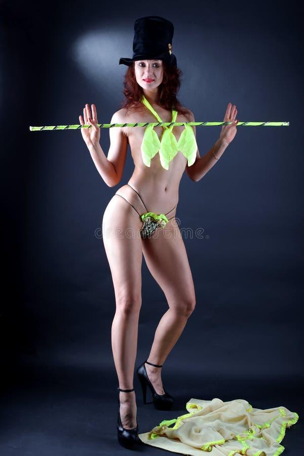 Modern strip dancer royalty free stock photography