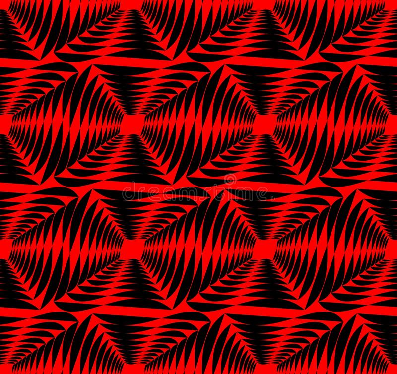 Modern strong contrasting abstract background in red and black. Seamless abstract background composed of uneven shapes. royalty free illustration