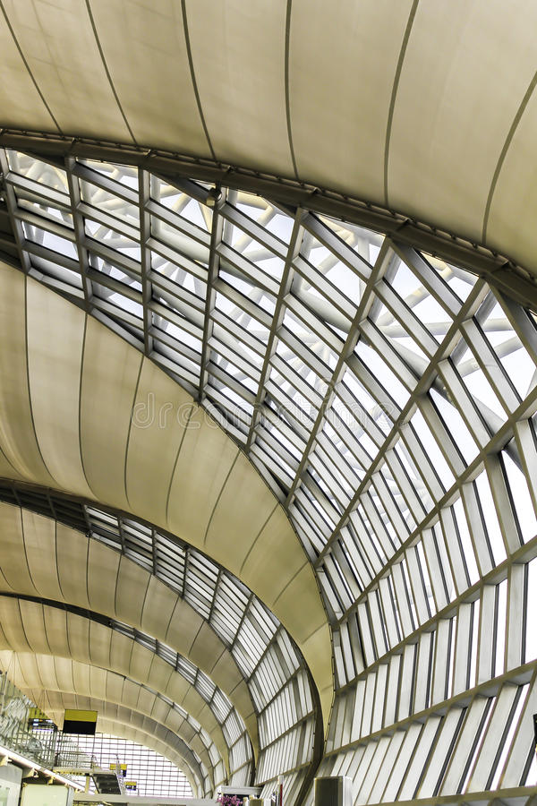Modern structure. Closeup pattern of modern metal structure roof royalty free stock image