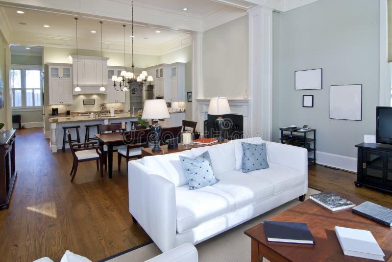 Modern studio apartment royalty free stock photos
