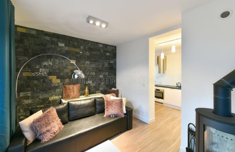 modern studio för lägenhet royaltyfri foto